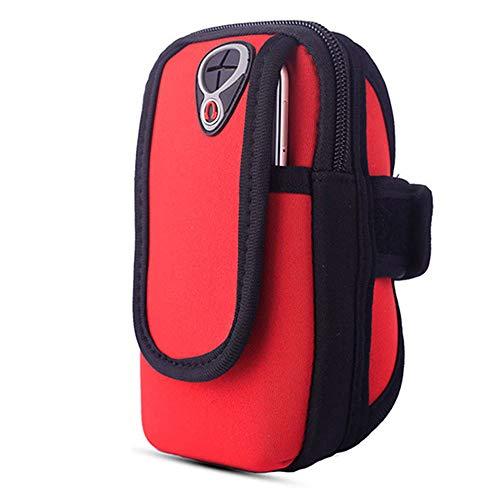 Roller-arm-tote (PIN XIU Neue Brieftasche Mit Großer Kapazität Lange Tasche Handy Farbe Reißverschluss Brieftasche Hellrot 17,5X10 [cm])
