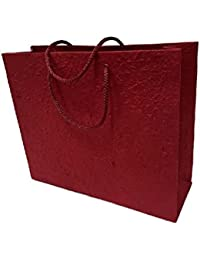 Authentics Hand Made Paper Bag Red Colour Size 10 X 7 Inches Pack Of 5