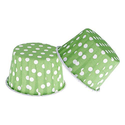 uchenform Cupcake Liner Papier Muffin Cases Kuchen Tasse Box Halter Grün (Grüne Cupcake-liner)