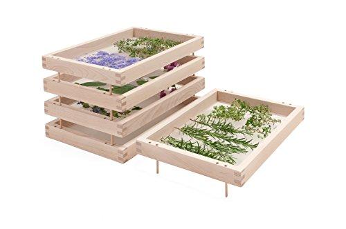 Estantes superpuestos para secar hierbas, plantas aromáticas y especias: modelo original en madera de haya sin tratar