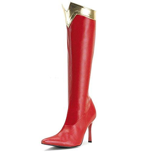Higher-Heels Funtasma Stiefel für Superheld innen Wonder-130 rot/Gold 38