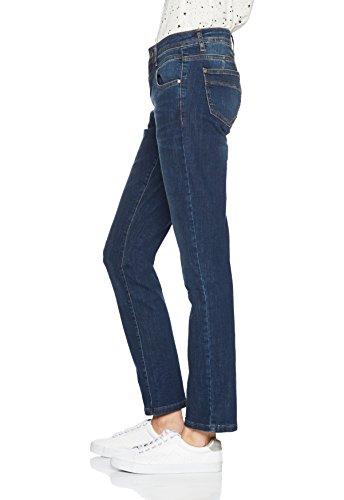 More & More Damen Straight Jeans Blau (Mid Blue Denim 0962)