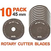 Rotary Cutter cuchillas 45 mm x 10 unidades   Compatible con Olfa, Fiskars 45 mm cortador rotatorio   perfecto para acolchar, patchwork, manualidades y costura