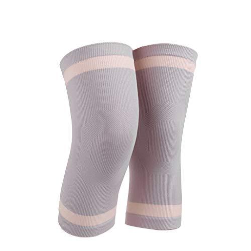 ZHANG Knie, Knie Warme Arthritis Alte Kalte Beine Atmungsaktive Sommer Dünner Abschnitt M Ms Spur Knieorthese (Farbe: Grau) (Size : XXL) (Arthritis Knieorthese Xxl Für)