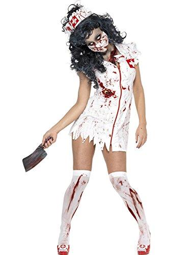 Halloween Cosplay (Halloween Cosplay Kostüm Zombie Bloody Krankenschwester)