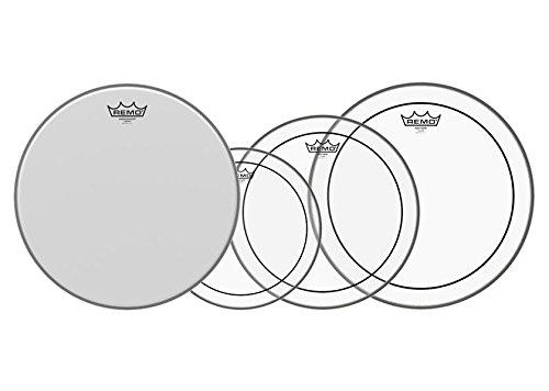 """Remo 10"""" 12"""" 14"""" Pinstripe Clear Set PLUS 14"""" Coated (3er Set für Toms mit den Größen: 10"""" / 12"""" / 14"""", 14"""" Ambassador Coated Snare Drum Fell)"""