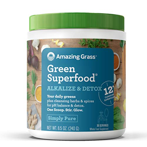 Amazing Grass Green SuperFood Alkalize and Detox, 8.5 Oz