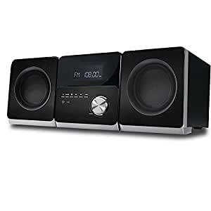 mini musikanlage mit cd player usb aux in radio. Black Bedroom Furniture Sets. Home Design Ideas