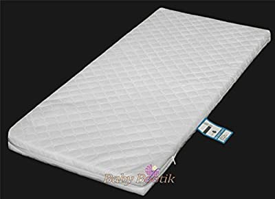 Anti-Bacterial Baby Crib, Cradle Foam Mattress (90 x 40 x 4 cm) with Quilted Breathable Zip Cover