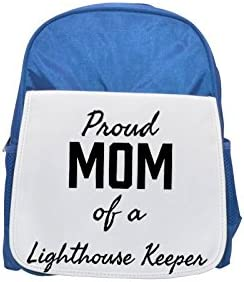 Proud Mom of a Lighthouse Keeper printed kid's Bleu  backpack, Cute backpacks, cute small backpacks, cute Noir  backpack, cool Noir  backpack, fashion backpacks, large fashion backpacks, Noir  fashion | Simple D'utilisation