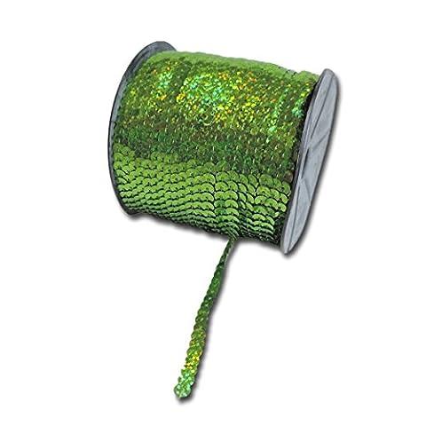 Maya Road SQR3032 Sparkle Sequins Trim, Leaf Green