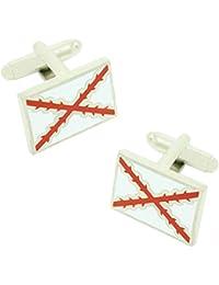 MasGemelos - Gemelos Bandera Cruz de Borgoña Cufflinks