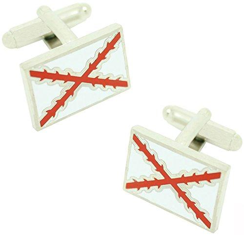 MasGemelos - Gemelos Bandera Cruz Borgoña Cufflinks