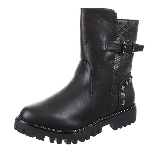 Sapatas Das Senhoras, 53002-pa, Ankle Boots Pretas