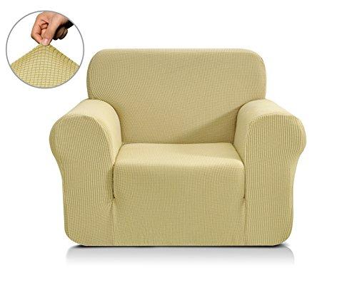 CHUN YI 1-Stück Jacquard Sofaüberwurf, Sofaüberzug, Sofahusse, Sofabezug für Sofa, Couch, Sessel, mehrere Farben (1 Sitzer, Hellgelb/Golden)