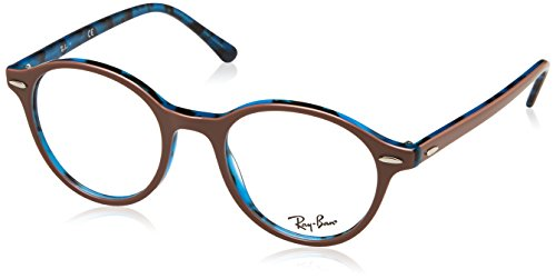 Ray-Ban Unisex-Erwachsene 0RX 7118 5715 50 Brillengestelle, Braun (Topo Light Brown On Havana Blue),