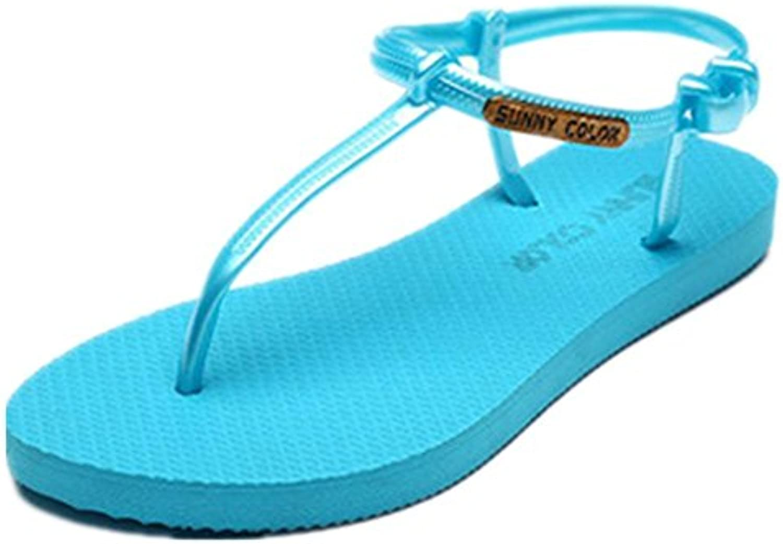 de las mujeres planas deportivo playa sandalia sandalias de los zapatos atléticos casuales , 1 , 36