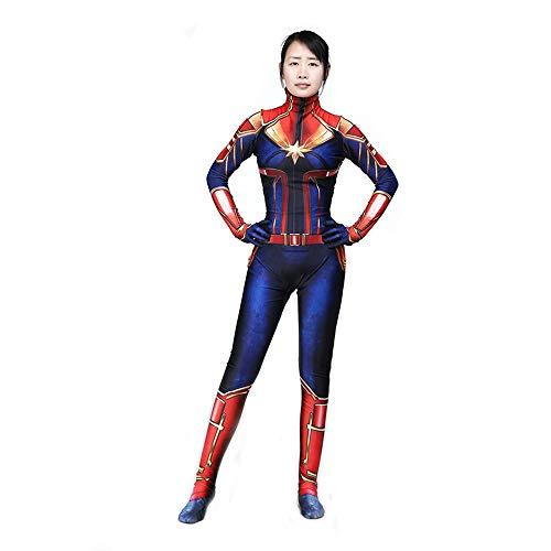 werty Marvel Movie Edition Überraschung Kapitän Cosplay Anime Kostüm Marvel Damen Enge Kleidung Kostüm Lycra Weihnachten Halloween Kleidung Für Erwachsene/Kinder Tragen Adult-L