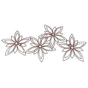 Fleur design - superbe décoration en métal à accrocher au mur - Idée cadeau déco murale originale
