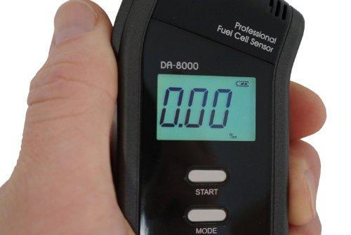 Alkoholtester Trendmedic Alcofind DA-8000 | mobiles digitales Atem-Alkoholmessgerät mit langzeitstabilen Fuel-Cell-Sensor bis 5.00‰ | polizeigenau | inkl. 25 Zusatzmundstücken - 4