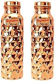 Bona Fide Pure Copper Bottles for Water 1 Liter | Bottle-Leak Proof & Joint Free - Ayurvedic Health Benefi