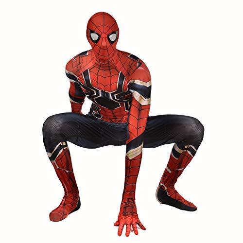 TOYSGAMES Cosplay Costume Steel - Spiderman Elastische Bodysuit Strumpfhose Halloween Requisiten Kostüme (Farbe : Dunkelblau, größe : ()