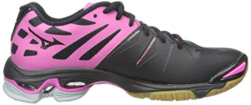 Mizuno Wave Lightning Z Large Toile Baskets Black-Pink-Grey