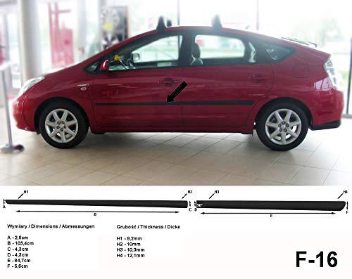 Spangenberg Seitenschutzleisten schwarz für Toyota Prius II Liftback Schrägheck Baujahre 2002-2009 F16 (3700016)