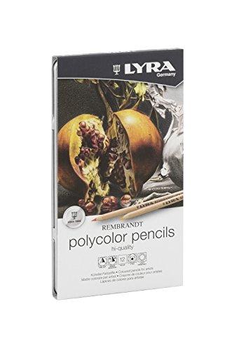 lyra-2001120-rembrandt-polycolor-m12-astuccio-di-metallo-con-12-pastelli-a-colori-per-artisti