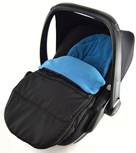Preisvergleich Produktbild Autositz Fußsack/COSY TOES kompatibel mit Britax Baby Safe New Born Autositz Ocean Blau