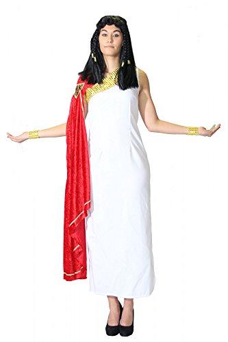 Foxxeo 40007 | Deluxe Köstüm weiß Griechin Römerin Antike Sparta Königin, Größe:XXL