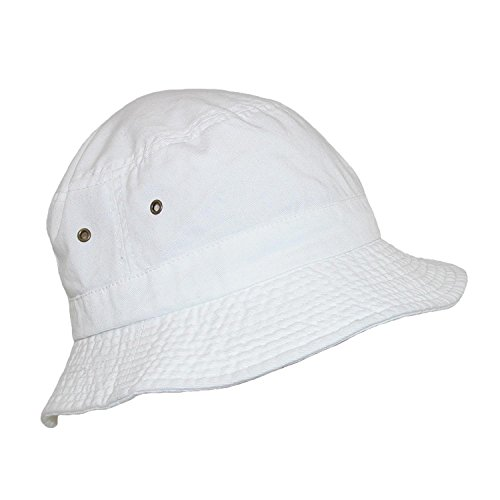 5cc87941fdb Dorfman Pacific Cotton White Crushable Summer Sun Bucket Hat