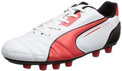 Puma Universal FG Jr 102701 Unisex-Kinder Fußballschuhe, Weiß (white-high risk red-black 06), EU 37 (UK 4) (US 5)