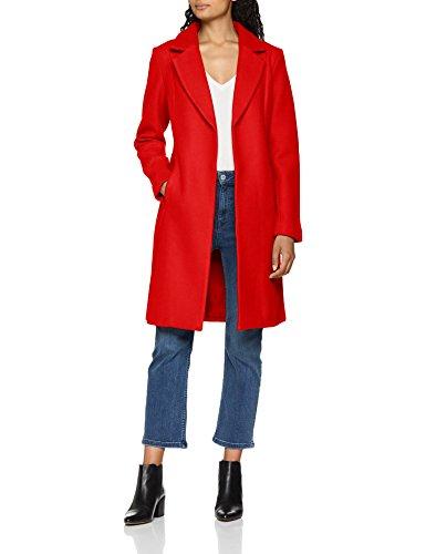 ONLY Damen onlRACHEL Wool Coat CC OTW Mantel, Rot Goji Berry, 38 (Herstellergröße: M) Rot Mantel
