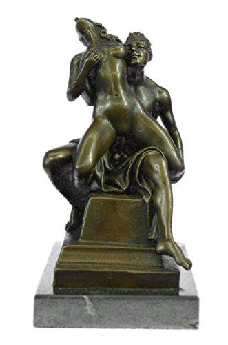 Statua di bronzo Scultura...Spedizione Gratuita...Arte Erotica sessuale sesso grande azione in marmo Opera Base F(EPA-112-UK)Statue Figurine Figurine Nude per ufficio e casa Décor Primo Giorno Collez