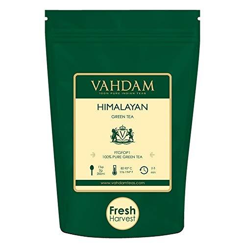 Grüne Teeblätter aus dem Himalaya 100 Gramm (50 Tassen) - Entgiftender, reinigender und...