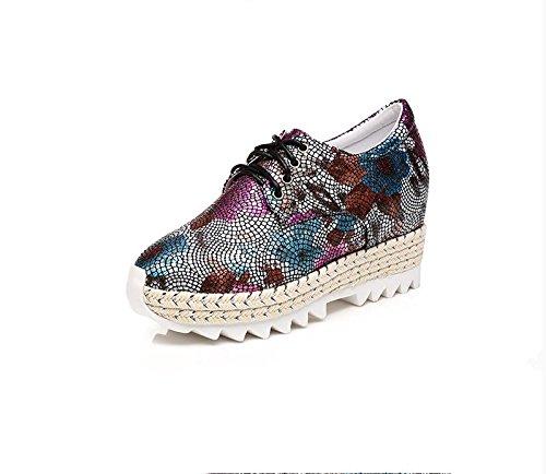 BaiLing Damen Sommer Sandalen / Sneaker mit High Heel / Mode Druck Damen kleine Größe Schuhe Black