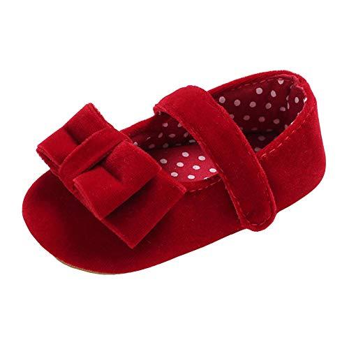 Gummi Elf Schuhe - QINJLI Baby Schuhe, Bow 0-1 Jahre
