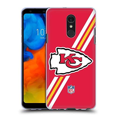 Head Case Designs Offizielle NFL Streifen Kansas City Chiefs Logo Soft Gel Huelle kompatibel mit LG Q Stylus/Q Stylo 4 Str Stylus
