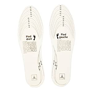 SENSLY SC16501 Semelle Anti-Odeur 2 pcs Sac à chaussettes, 30 cm, Blanc