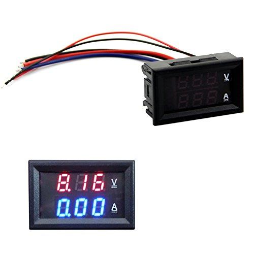 DC HeroNeo 100 V 10 A Voltímetro Amperímetro azul + LED rojo Amp Dual Digital medidor de gran calibre