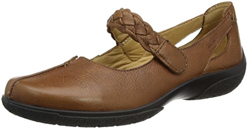 Hotter Damen Shake Mary Jane Schuhe, Brown (Dark Tan), 42 EU (Mary Leder Jane Tan)