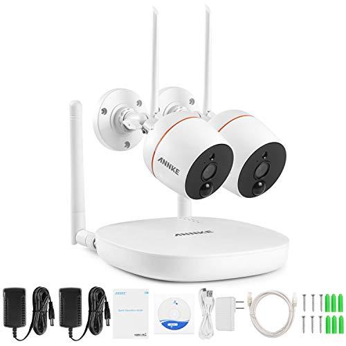 Audio-system-usb-mini-systeme ([Mit Ton] ANNKE Mini Full HD 1080P Wireless Audio Video NVR Überwachungskamera System mit 2 Indoor 1080P Kameras,Funk Überwachungssystem, Zwei-Wege-Audio, PIR Bewegungsmelder, TF-Slot bis 128G)