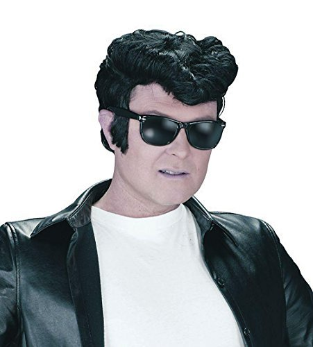 Mens Greaser Wig Accessory for 50s Rock n Roll Fancy Dress Wig by Partypackage (Perücke Greaser)