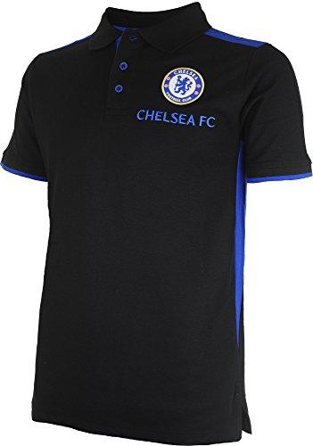 c8582855de6 Chelsea FC 1341497 L Polo Fútbol Adulto, Negro/Royal, FR: L (