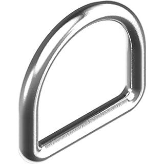 Arbo-Inox 2 x D-Ring Edelstahl geschweißt poliert A4 rostfrei Größe 6x40mm
