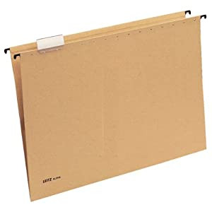 Leitz Alpha 19750000 Suspension File A3 Cardboard Natural Brown(Pack of 25)