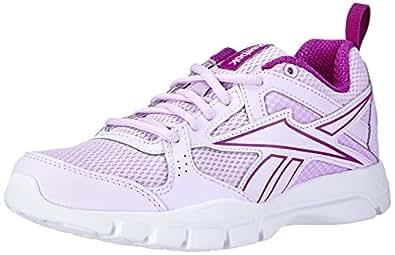 Reebok  Trainfusion 5.0, Chaussures de fitness femmes - Blanc - Weiß (Lilac Ice/Fierce Fuchsia/White), 35.5