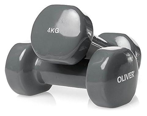OLIVER Haltère Vinyle – gris 2 x 4.0 kg