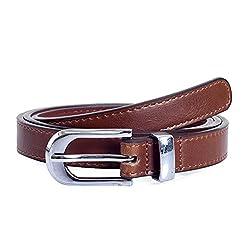 Lino Perros Womens Belt (LWBE00443BROWN_95)
